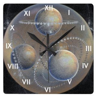 Relógio Quadrado Planetas do marfim