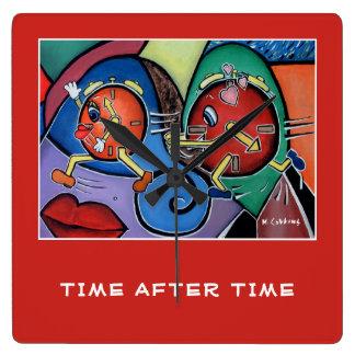 Relógio Quadrado Por muitas vezes seguidas no vermelho