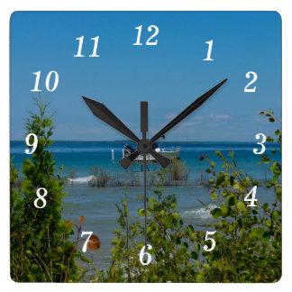 Relógio Quadrado Postado em Mackinac