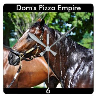 Relógio Quadrado Potro do império da pizza dos DOM