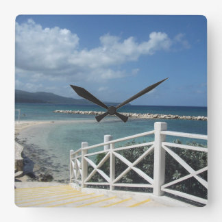 Relógio Quadrado Praia de Montego Bay, pulso de disparo de Jamaica