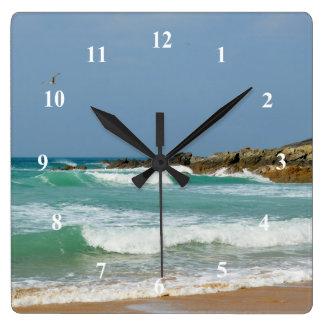 Relógio Quadrado Praia Newquay Cornualha Inglaterra de Fistral