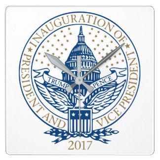 Relógio Quadrado Presidente Inaugural Logotipo Inauguração das