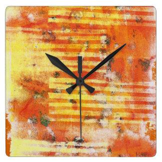 Relógio Quadrado Pulso de disparo abstrato de Monoprint 17025YOS