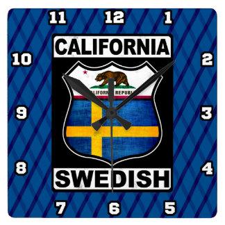 Relógio Quadrado Pulso de disparo americano sueco de Califórnia