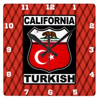 Relógio Quadrado Pulso de disparo americano turco de Califórnia