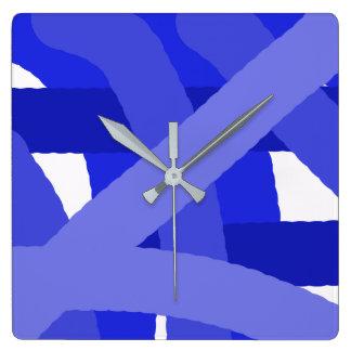 Relógio Quadrado Pulso de disparo azul do abstrato do Fest
