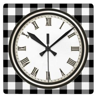 Relógio Quadrado Pulso de disparo branco preto da cozinha do teste