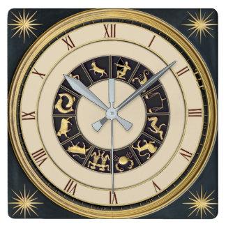 Relógio Quadrado Pulso de disparo clássico do zodíaco