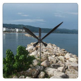 Relógio Quadrado Pulso de disparo da opinião do mar de Jamaica