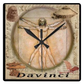 Relógio Quadrado Pulso de disparo de Leonardo da Vinci