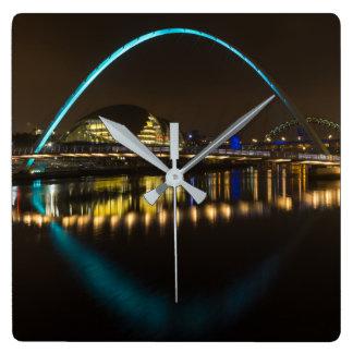 Relógio Quadrado Pulso de disparo de Newcastle