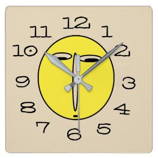 Relógio Quadrado Pulso de disparo de parede à nora engraçado da