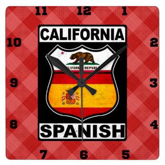 Relógio Quadrado Pulso de disparo de parede americano espanhol de