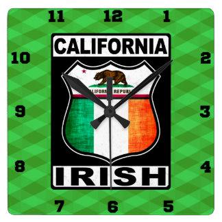 Relógio Quadrado Pulso de disparo de parede americano irlandês de