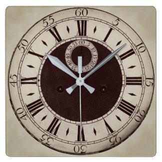 Relógio Quadrado Pulso de disparo de parede antigo clássico dos