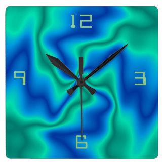 Relógio Quadrado Pulso de disparo de parede artístico incomum de