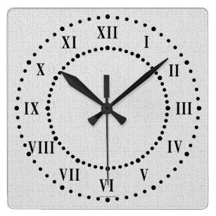 b0f261a1af4 Relógio Quadrado Pulso de disparo de parede cinzento dos numerais r
