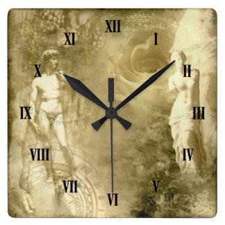Relógio Quadrado Pulso de disparo de parede da colagem do vintage