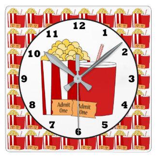 Relógio Quadrado Pulso de disparo de parede da sala do cinema
