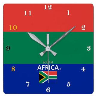 Relógio Quadrado Pulso de disparo de parede de África do Sul