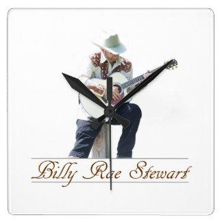 Relógio Quadrado Pulso de disparo de parede de Billy Rae Stewart