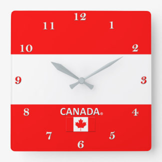 Relógio Quadrado Pulso de disparo de parede de Canadá