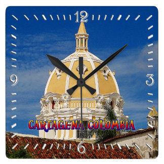 Relógio Quadrado Pulso de disparo de parede de Cartagena da