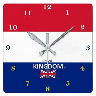 Relógio Quadrado Pulso de disparo de parede de Reino Unido