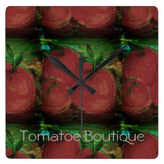"""Relógio Quadrado pulso de disparo de parede do """"boutique tomate """""""