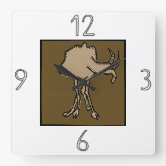 Relógio Quadrado Pulso de disparo de parede do Capricórnio do sinal
