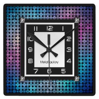 Relógio Quadrado Pulso de disparo de parede do mosaico e do metal