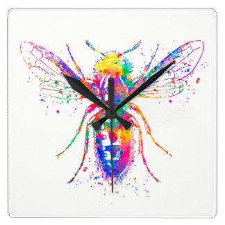 Relógio Quadrado Pulso de disparo de parede do quadrado da abelha