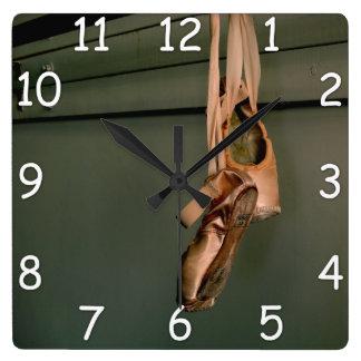 Relógio Quadrado Pulso de disparo de parede dos calçados de Pointe