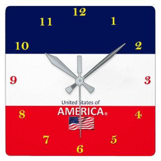 Relógio Quadrado Pulso de disparo de parede dos Estados Unidos da