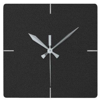 Relógio Quadrado Pulso de disparo de parede liso elegante preto