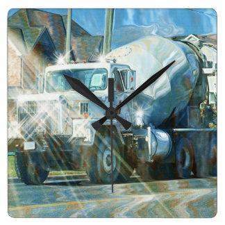 Relógio Quadrado Pulso de disparo de parede pesado do caminhão do