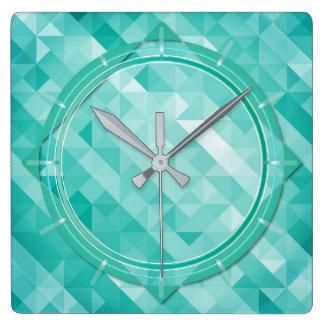 Relógio Quadrado Pulso de disparo de parede poligonal abstrato do