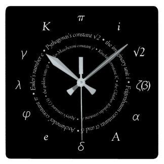 Relógio Quadrado Pulso de disparo de parede quadrado das constantes