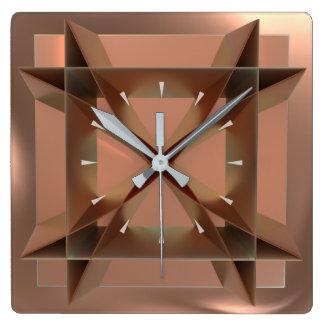 Relógio Quadrado Pulso de disparo de parede quadrado de cobre do