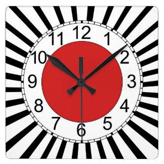 Relógio Quadrado Pulso de disparo de parede quadrado, design