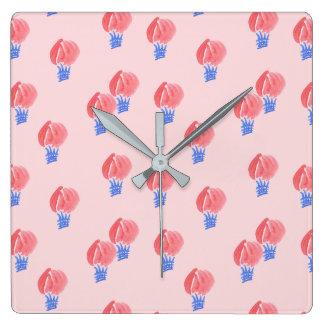 Relógio Quadrado Pulso de disparo de parede quadrado dos balões de