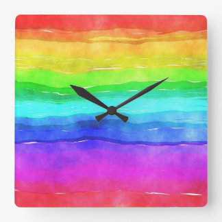 Relógio Quadrado Pulso de disparo do arco-íris