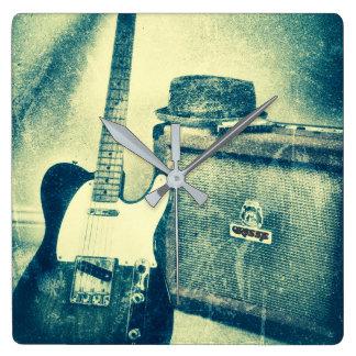Relógio Quadrado pulso de disparo do bluesman da harmônica do