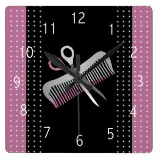 Relógio Quadrado Pulso de disparo do cabeleireiro
