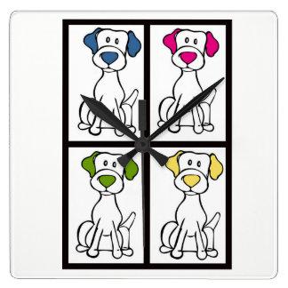 Relógio Quadrado Pulso de disparo do cão - Labrador