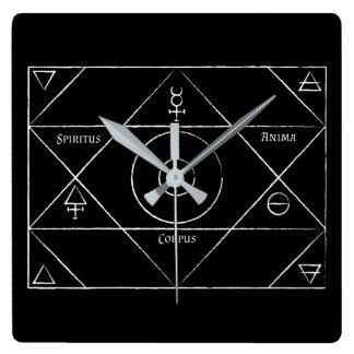 Relógio Quadrado Pulso de disparo do corpus do Anima de Spiritus