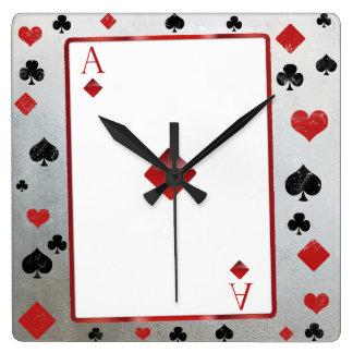 Relógio Quadrado Pulso de disparo do estilo do casino/vegas