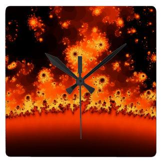 Relógio Quadrado Pulso de disparo do Fractal do alargamento solar