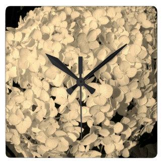 Relógio Quadrado Pulso de disparo do Hydrangea
